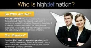 HIGHDEFNATION ONCE IN A LIFETIME MLM OPPORTUNITY FREE HEALTHCARE FREE DENTAL CARE