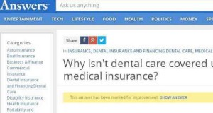 Why Is Dental Work Not Covered Under Medical Insurance?
